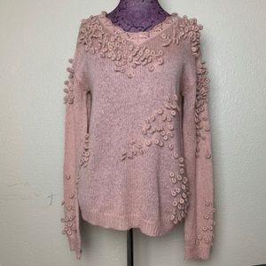 Sundance Popcorn Blush Pink Pullover Sweater
